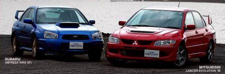 Mitsubishi Lancer, Subaru Impreza WRX, 2003