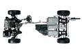 Для того, чтобы обеспечить привод на задние колеса и получить вариант 4WD, сзади устанавливается еще один электромотор. Привод на задние колеса служит не только для увеличения тягового усилия, но является также весьма эффективным средством борьбы с заносами на скользкой дороге.