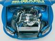 В отличие от серийной Импрезы на автомобиле WRC интеркулер располагается за решеткой радиатора