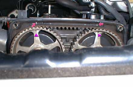ремень ГРМ двигателе Toyota 1G-GE