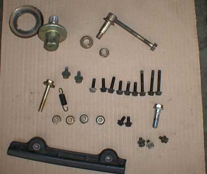 гайки и болты, снимаемые при замене ремня ГРМ на двигателе Toyota 1G-GE