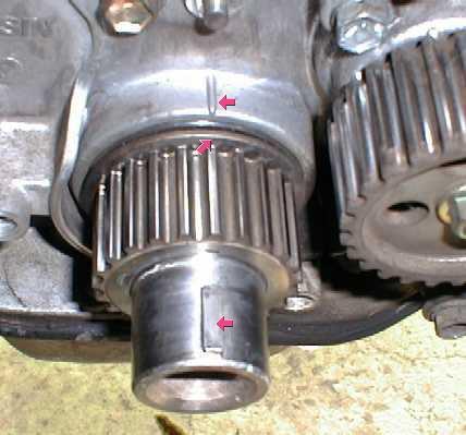 зубчатый шкив коленвала  на двигателе Toyota 1G-GE
