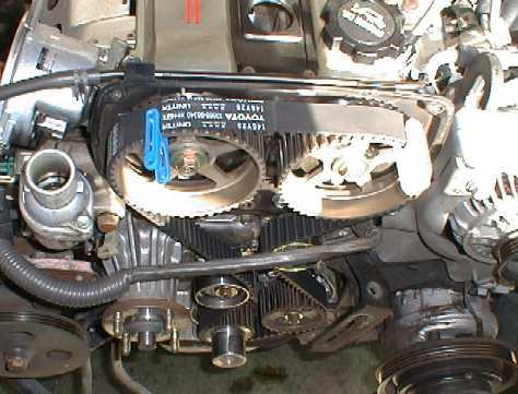 ремень ГРМ  на двигателе Toyota 1G-GE