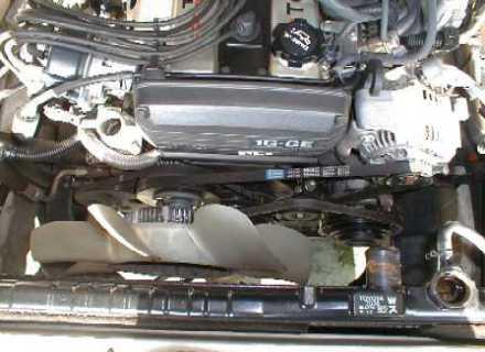 вентилятор на двигателе Toyota 1G-GE