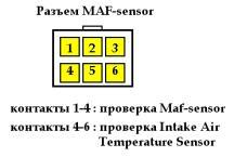разъем MAF-сенсора
